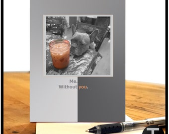 Greeting Card - Frenchie - I Miss You