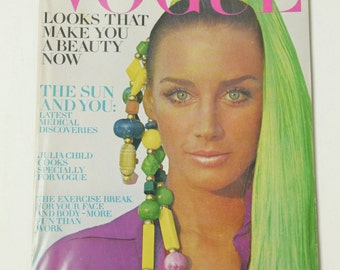 Vintage Vogue Magazine June 1969 Arnaud de Rosnay Fashion