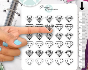 Clear Diamond Stickers Geometric Stickers Planner Stickers Erin Condren Functional Stickers Decorative Stickers NR421