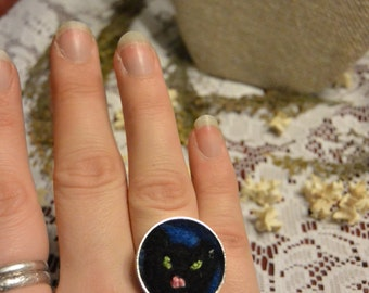 Felted Cat Ring