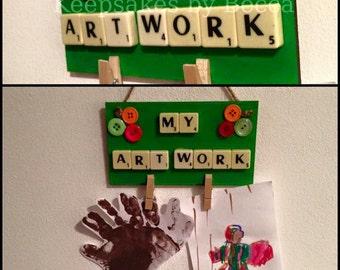 My Art Work hanging plaque