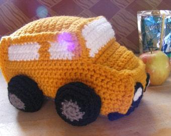 Crochet School Bus Plush School Bus Toy School Bus Yellow School Bus Crochet Vehicle Teacher Gift Classroom