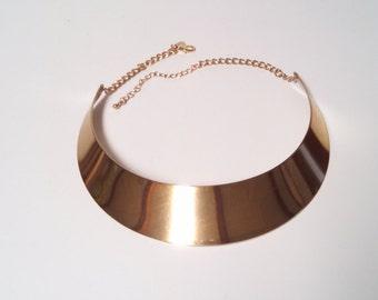 Gold Statement Choker Necklace