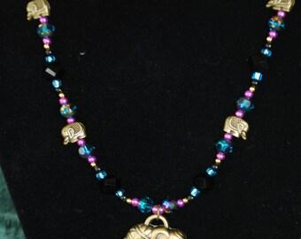 Elephants on Parade Beaded Necklace