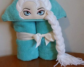 Ice Queen 3D Hooded Towel