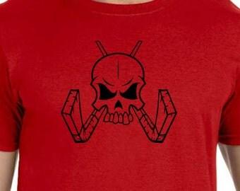 Skull W/ Crossed Hockeysticks T-shirt