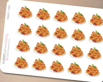 Spaghetti | Pasta | Meal Planner Stickers Perfect for Erin Condren, Kikki K, Filofax and all other Planners