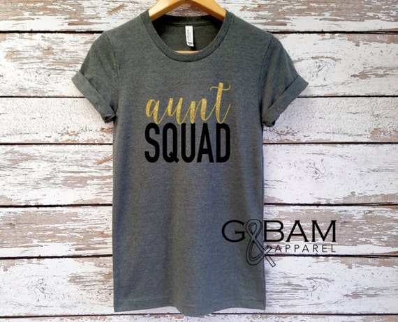 AUNT SQUAD Shirt Boyfriend tee  /Auntie tee/ You're a Aunt / new aunt gift / future auntie / we're Pregnant /