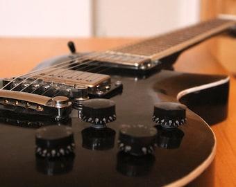 Custom Handmade Black Les Paul Style Electric Guitar
