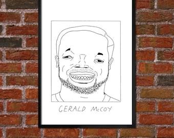 Badly Drawn Gerald McCoy - Tampa Bay Buccaneersposter / print / artwork / wall art