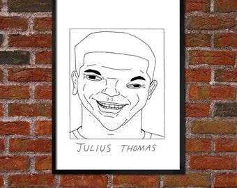 Badly Drawn Julius Thomas - Jacksonville Jaguarsposter / print / artwork / wall art