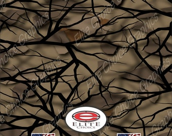 "Savage Fall 15""x52"" or 24""x52"" Truck/Pattern Print Tree Real Camouflage Sticker Roll or Sheet"