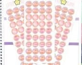 Pink watercolour sticker | Watercolour Planner Stickers, Relax Plan Family Me time Planner Stickers