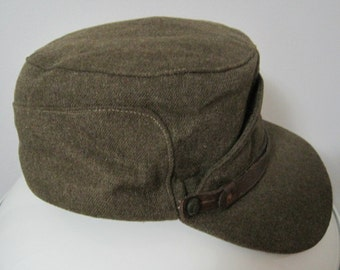 Military Issue, Buffalo Cap Co., Ltd, Cap, Peaked, Winter, 1954, Size 7 1/2, Vintage