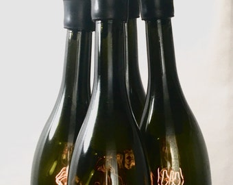 Upcycled Wine Bottle Cluster Chandelier
