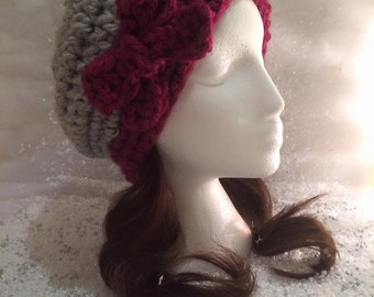PREMIUM RANGE - The Bonnie Slouchy Hat with Bow - 100% Pure Wool
