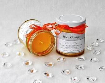 Handmade Juicy Orange Fragranced Soy Candle - Home, Gift, Garden