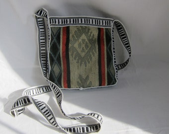 Ecuador Hand Woven multi color purse, messenger bag, shoulder bag.