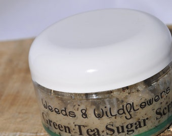 Sugar Scrub -Pepermint Green Tea Sugar Scrub, Handmade Just For You