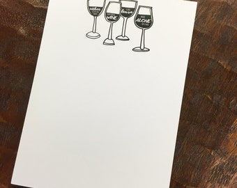 Give Me Wine Notepad