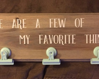 Favorite Things Sign