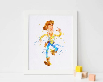 Disney Toy Story Woody toy story watercolor toy story party toy story print toy story decor toy story wall art toy story printables art