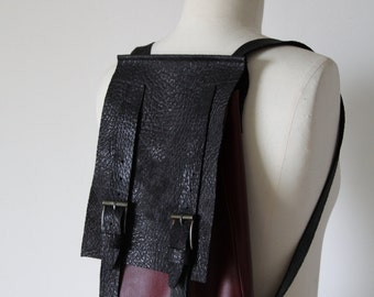 Hand-made leather backpack