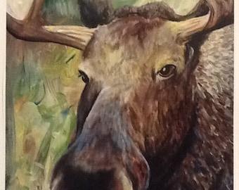 PRINT-Moose Portrait