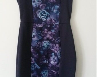 Purple flowered  dress