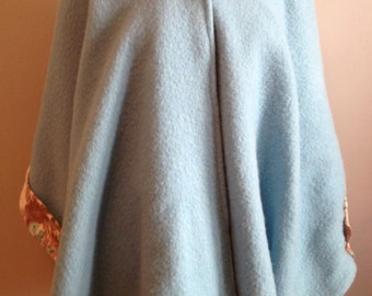 Blue Wool Cape
