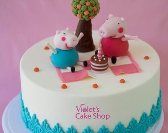 Peppa Pig edible fondant Cake Toppers