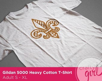 Fleur De Lis Custom Adult T-shirt