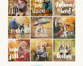 Photography overlays, fall photography, fall mini session template, fall photo props, autumn overlays, Photoshop, Lightroom, PicMonkey png