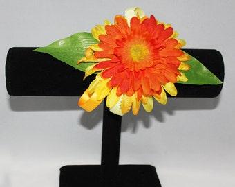Bright Orange Daisy Corsage