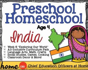 Homeschool Preschool India Unit