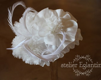 Bibi wedding flowers silk and feathers