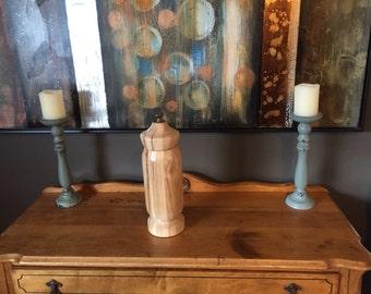Wooden Urn, Tall Wood Urn, Funeral Urn, Maple Wood Urn