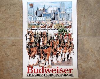 Budweiser Circus Parade Poster 1986 Milwaukee WI