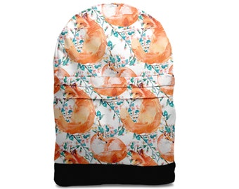 Fox flower backpack bag