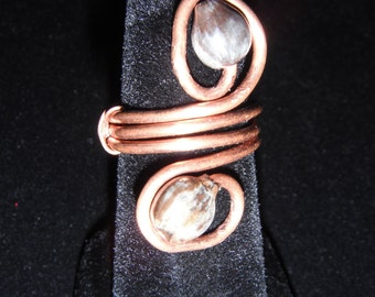 Job's Tears Seed Ring Copper Wire Size 5