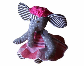 Pretty Elephant Plush Toy | Customized Stuffed Animal