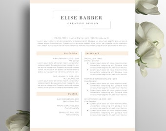 slick elegant resume cv design with cover letter and reference ...