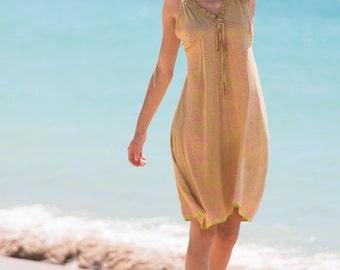 Putri Sundress, Beach Dress, Sundress, Summer Dress, Womens Sundress, Yellow Dress, 107-106