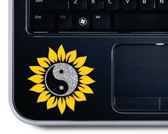 Sunflower Yeti Decal Sunflower Decal Flower Car Decal Initial