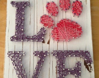 Puppy Love Nail and String Art