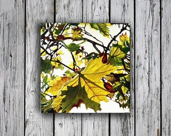 Autumn Painting, wall art, home decor, Fall Leaves, Autumn Art, wedding gift, Colorful Leaves, Autumn Leaves, Paintings of Autumn