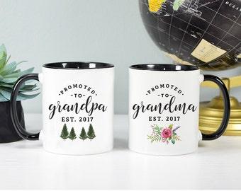 Grandparents to be, Grandpa and Grandma Mug Set, Grandma Mug, Grandpa Mug, Pregnancy Announcement Mug, Rose Gold Rebel, Grandparents Mugs