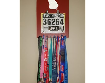 "Running Medal/Bib Holder ""I Run 'Georgia'"""
