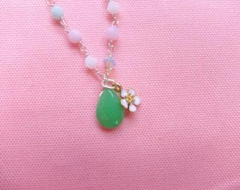 Swarovisky Bracelet, Colored Jade Bracelet,Flower Bracelet