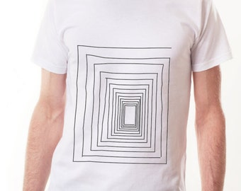 Spiral square (embroidered tshirt)